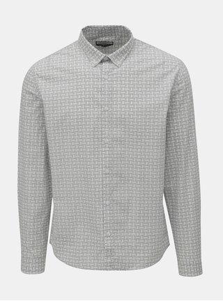 Bílo-šedá vzorovaná košile Shine Original