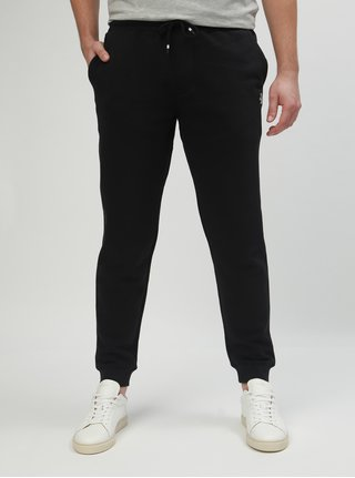 Pantaloni sport negri slim fit Original Penguin Fleece