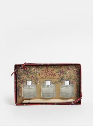 Darčekové balenie troch difuzérov s vôňou jablka a škorice SIFCON