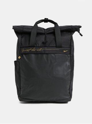 Rucsac negru de dama cu detalii aurii Nike 18 l