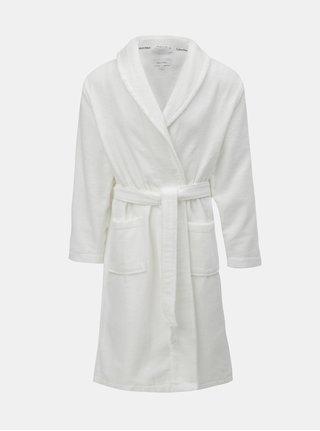 Halat de baie barbatesc alb cu snur Calvin Klein Underwear
