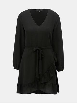 Černé šaty s volánem Dorothy Perkins