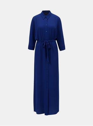 Rochie tip camasa maxi albastru inchis lejera Dorothy Perkins