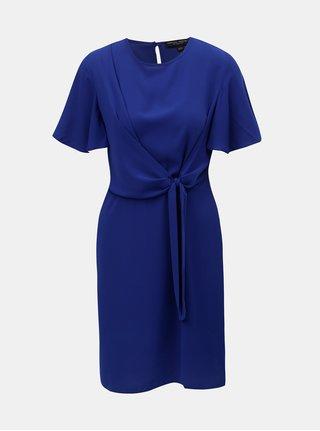 Modré šaty so zaväzovaním na boku Dorothy Perkins