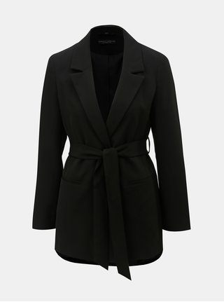 Černé sako s páskem na zavazování Dorothy Perkins