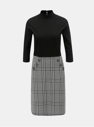 Šaty s kostkovanou sukní Dorothy Perkins Tall