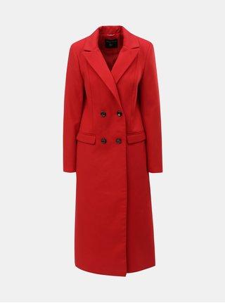Červený dlhý kabát Dorothy Perkins