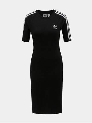 Rochie neagra cu maneci scurte adidas Originals