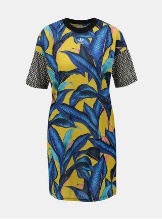 Rochie galben-albastru cu model adidas Originals