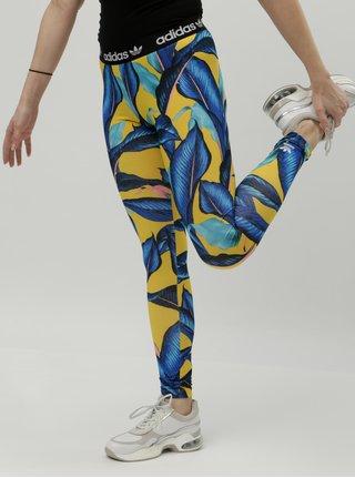 Žlto–modré dámske vzorované legíny adidas Originals
