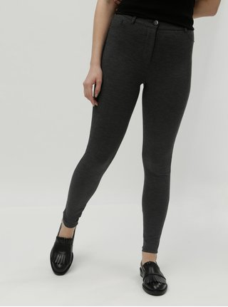 Pantaloni gri inchis cu model skinny cu talie inalta Dorothy Perkins
