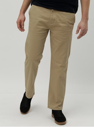 Pantaloni bej straight chino Burton Menswear London
