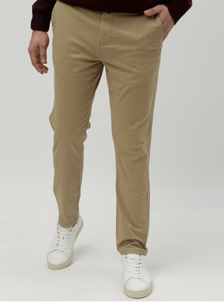 Béžové tapered chino nohavice Burton Menswear London