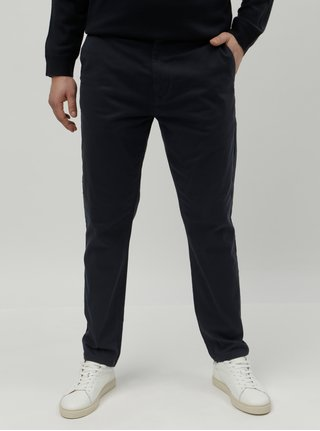 Pantaloni albastru inchis tapered chino Burton Menswear London