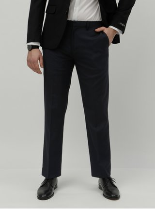 Pantaloni formali albastru inchis tailored fit Burton Menswear London