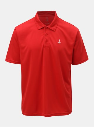 Tricou polo functional rosu Mr. Sailor