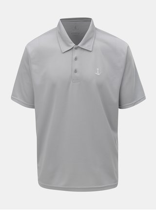 Tricou polo functional gri deschis Mr. Sailor