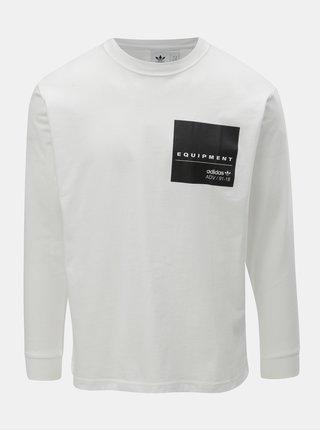 Tricou barbatesc alb cu imprimeu la spate adidas Originals