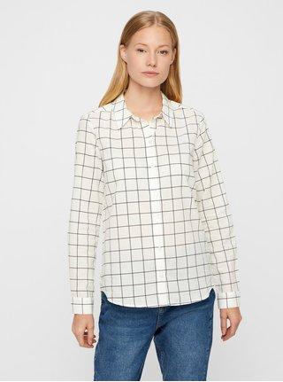 d6da220b4712 Čierno-biela kockovaná košeľa VERO MODA