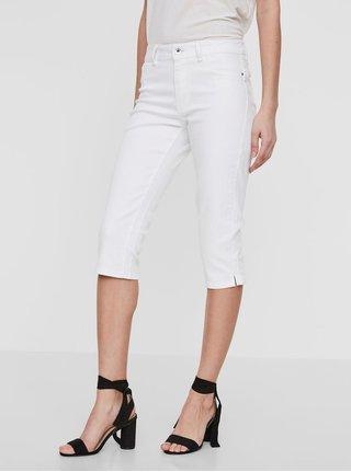 Pantaloni 3/4 albi din denim - VERO MODA Hot Seven