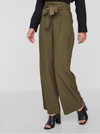 Pantaloni culottes verzi cu cordon VERO MODA Kim
