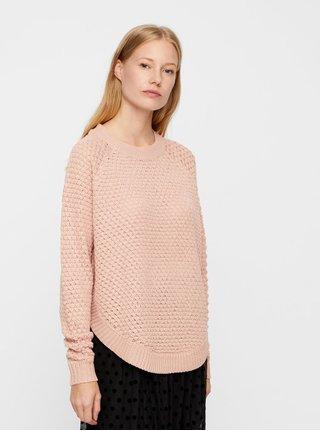 Světle růžový svetr VERO MODA Mami Surt Curve