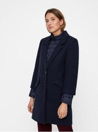 Tmavě modrý kabát s odnímatelnou lehkou bundou 2v1 VERO MODA Two