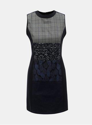 Rochie albastru inchis cu model si fara maneci Desigual Fernie
