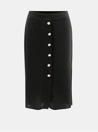 Čierna sukňa s ozdobnými gombíkmi Dorothy Perkins