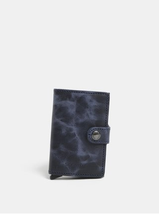 Modrá kožená peněženka s hliníkovým pouzdrem s RFID Secrid Miniwallet