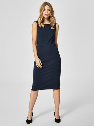 Tmavě modré šaty Selected Femme Uma ef4942797a