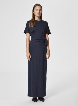 Tmavě modré maxišaty Selected Femme Yani 23934a2643