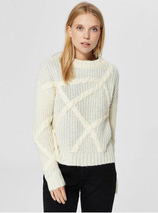 Krémový krátký svetr Selected Femme