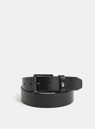 Černý pánský kožený pásek Tommy Hilfiger