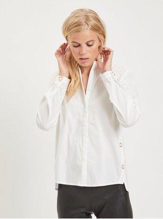 Bílá košile s detaily ve zlaté barvě VILA