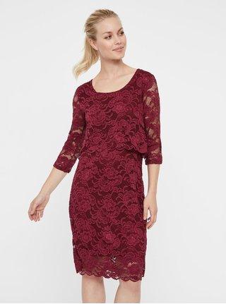 Rochie roz din dantela pentru femei insarcinate si pentru alaptat Mama.licious Mivane