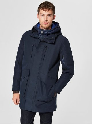 Tmavě modrá bunda s odnímatelnou bundou 2v1 Selected Homme Hike