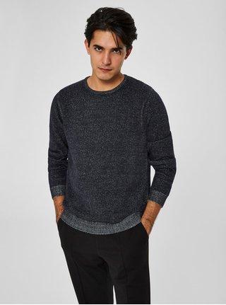 Modrý žíhaný svetr Selected Homme Andrew