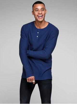 Tmavě modré slim fit pruhované polo tričko Jack & Jones Joseph