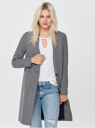 Šedo-černý vzorovaný kabát ONLY Helen