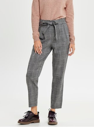 Pantaloni crop gri cu model ONLY Florence