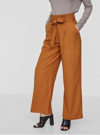 Pantaloni culottes oranj cu cordon VERO MODA Kim