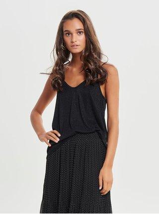 Bluza neagra cu striatii si detalii stralucitoare ONLY Carol