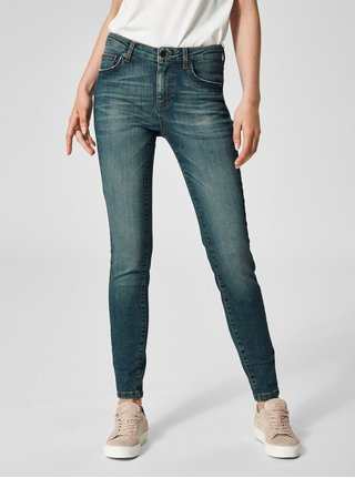 Blugi albastri super slim din denim Selected Femme Fida
