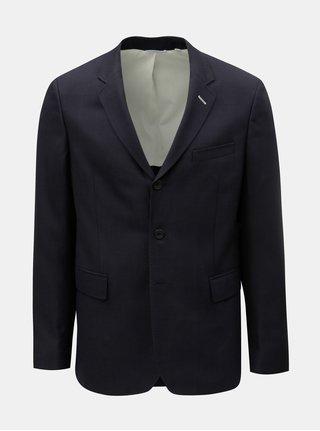 Tmavě modré pánské sako s příměsí vlny GANT Rugger