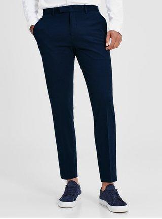 Tmavomodré formálne nohavice Jack & Jones Premium Steven