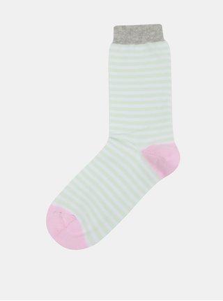 Zeleno-biele dámske pruhované ponožky ZOOT