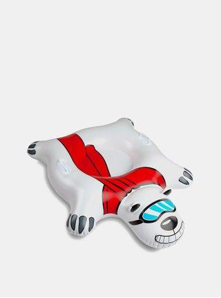 Bílý nafukovací sněžný kluzák ve tvaru ledního medvěda Big Mouth Inc.