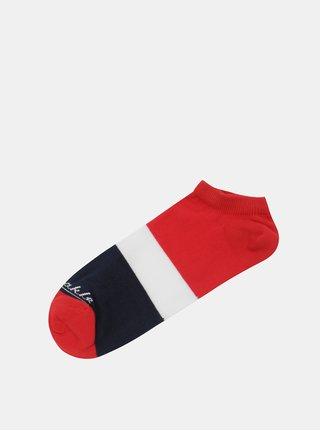 Modro-červené kotníkové ponožky Fusakle Jachtár