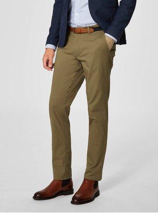 Béžové slim fit nohavice Selected Homme Yard